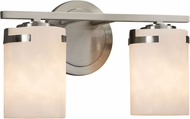 Justice Design CLD-8452-10 Clouds Atlas Contemporary 2-Light Bath Lighting Sconce