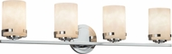 Justice Design CLD-8454-10 Clouds Atlas Contemporary 4-Light Bathroom Lighting