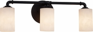 Justice Design CLD-8463 Clouds Bronx Modern 3-Light Bathroom Vanity Lighting