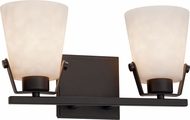 Justice Design CLD-8482 Clouds Nexus Contemporary 2-Light Bathroom Sconce