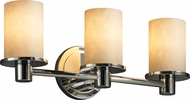 Justice Design CLD-8513-10 Clouds Rondo Modern Cylinder 3-Light Bath Wall Sconce