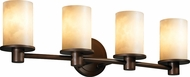 Justice Design CLD-8514-10 Clouds Rondo Contemporary Cylinder 4-Light Bathroom Light Sconce