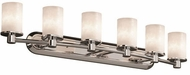 Justice Design CLD-8516-10 Clouds Rondo Contemporary Cylinder 6-Light Bathroom Lighting Sconce