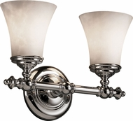 Justice Design CLD-8522-20 Clouds Traditional Round Flared 2-Light Bathroom Sconce Lighting
