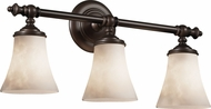 Justice Design CLD-8523-20 Clouds Traditional Round Flared 3-Light Bath Lighting Sconce