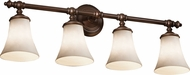 Justice Design CLD-8524-20 Clouds Traditional Round Flared 4-Light Bathroom Wall Light Fixture