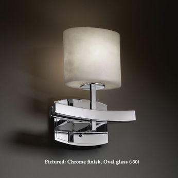 Justice Design CLD-8591 Archway 9 Inch Wide Cloud Glass Transitional Wall Light