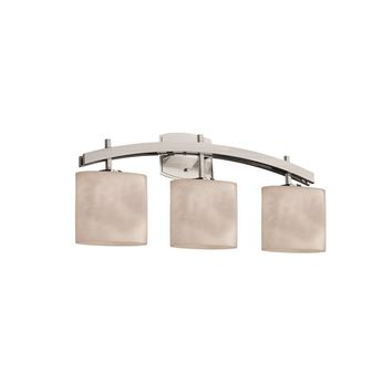Justice Design CLD-8593 Clouds Archway Contemporary 3-Light Bath Light Fixture