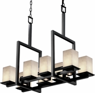 Justice Design CLD-8618-15 Clouds Montana Modern Square Island Lighting