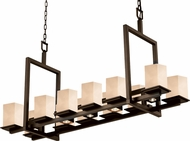 Justice Design CLD-8620-15 Clouds Montana Contemporary Square Kitchen Island Light