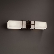 Justice Design CLD-8642 Structure Clouds 2-Light Bath Lighting Sconce