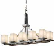 Justice Design CLD-8650-15 Clouds Montana Modern Square Island Light Fixture