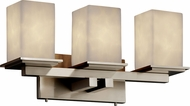 Justice Design CLD-8673-15 Clouds Montana Modern Square 3-Light Lighting For Bathroom