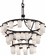Justice Design CLD-8733-10 Clouds Dakota Contemporary Ceiling Chandelier