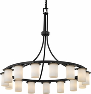 Justice Design CLD-8735-10 Clouds Dakota Modern Hanging Chandelier