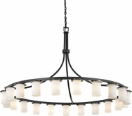 Justice Design CLD-8736-10 Clouds Dakota Contemporary Chandelier Light
