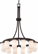 Justice Design CLD-8738-10 Clouds Dakota Modern Chandelier Lighting