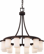 Justice Design CLD-8739-10 Clouds Dakota Contemporary Lighting Chandelier