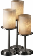 Justice Design CLD-8797-10 Clouds Dakota Contemporary Cylinder Lighting Table Lamp