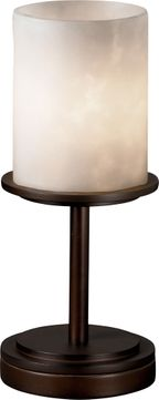 Justice Design CLD-8798-10 Clouds Dakota Contemporary Cylinder Table Lamp Lighting