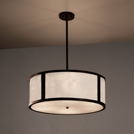 Justice Design CLD-9542 Tribeca Clouds Drum Pendant Lamp