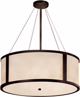 Justice Design CLD-9544-DBRZ Clouds Tribeca Contemporary Dark Bronze 36  Drum Lighting Pendant