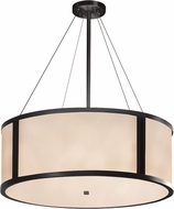 Justice Design CLD-9544-MBLK Clouds Tribeca Modern Matte Black 36  Drum Pendant Lamp