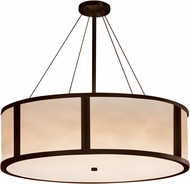 Justice Design CLD-9547-DBRZ Clouds Tribeca Contemporary Dark Bronze 48  Drum Hanging Lamp