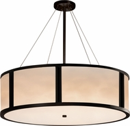Justice Design CLD-9547-MBLK Clouds Tribeca Modern Matte Black 48  Drum Hanging Light