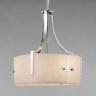Justice Design CLD-9561 Clouds Lira Contemporary Drum Lighting Pendant