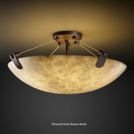 Justice Design CLD-9612-35 U-Clips Transitional Round Bowl Cloud Glass Ceiling Lamp
