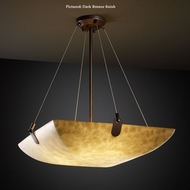 Justice Design CLD-9621-25 U-Clips Small Cloud Glass Pendant Hanging Light - Square