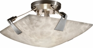 Justice Design CLD-9630 Clouds Tapered Clips Contemporary Ceiling Lighting Fixture