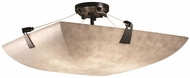 Justice Design CLD-9631 Clouds Tapered Clips Modern Ceiling Light Fixture