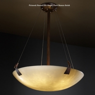 Justice Design CLD-9642 Tapered Clips Small 27 Inch Wide Cloud Glass Semi Flush Lighting