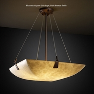 Justice Design CLD-9644 Tapered Clips Medium Cloud Glass Hanging Light Fixture - 39 Inches Wide