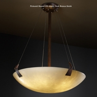 Justice Design CLD-9647 Tapered Clips Large 51 Inch Wide Drop Ceiling Lighting - Cloud Glass