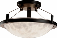 Justice Design CLD-9680-35 Clouds Ring Modern Round Bowl 16 Overhead Lighting Fixture