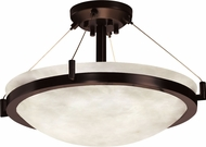 Justice Design CLD-9681-35 Clouds Ring Contemporary Round Bowl 21 Ceiling Lighting