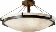 Justice Design CLD-9682-35 Clouds Ring Modern Round Bowl 27 Ceiling Light
