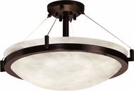 Justice Design CLD-9684-35 Clouds Ring Modern Round Bowl 39 Ceiling Light Fixture