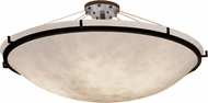 Justice Design CLD-9687-35 Clouds Ring Contemporary Round Bowl 51 Ceiling Lighting Fixture