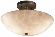Justice Design CLD-9690-35 Clouds Ring Contemporary Round Bowl Ceiling Light Fixture