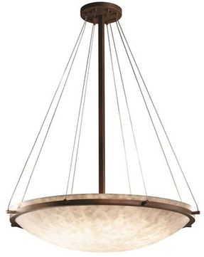 Justice Design CLD-9694-35 Clouds Ring Modern Round Bowl 39 Pendant Hanging Light