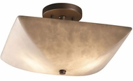 Justice Design CLD-9695-25 Clouds Ring Contemporary Square Flush Lighting