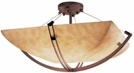 Justice Design CLD-9712-25 Clouds Crossbar Contemporary Flush Mount Lighting