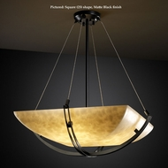 Justice Design CLD-9727 Crossbar Extra Large 55 Inch Wide Hanging Lamp - Cloud Glass