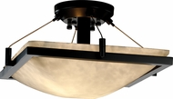 Justice Design CLD-9780-25 Clouds Ring Modern Square 16 Flush Mount Light Fixture