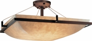 Justice Design CLD-9782-25 Clouds Ring Contemporary Square 27 Flush Ceiling Light Fixture
