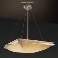 Justice Design CLD-9791-25 Ring Small 20 Inch Wide Semi Flush Cloud Glass Ceiling Lighting